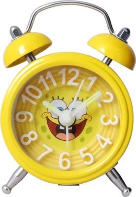 Super Drool Analog Yellow Clock