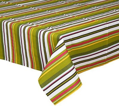 CPM HANDLOOM Striped 6 Seater Table Cover