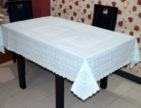 Katwa Clasic Floral 6 Seater Table Cover(Pista Green, PVC)