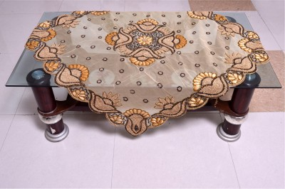 Nonch Le Embroidered 4 Seater Table Cover(Yellow, Polyester) at flipkart