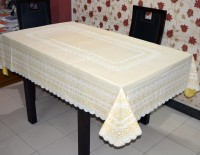 Katwa Clasic Floral 6 Seater Table Cover(Beige, PVC)
