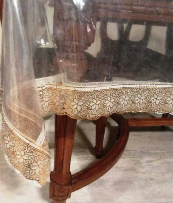 Ridhima Creations Solid 6 Seater Table Cover(Golden, PVC)