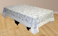 Katwa Clasic Floral 2 Seater Table Cover(Grey, PVC)