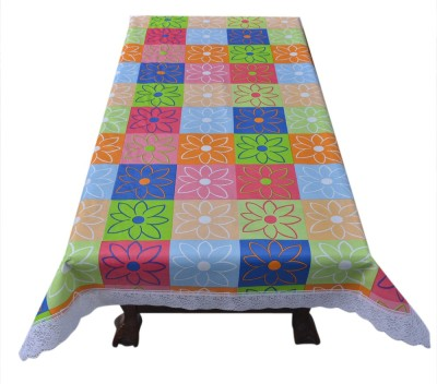 Prime Floral 4 Seater Table Cover(Multicolor, PVC)