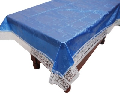 E-Retailer Geometric 6 Seater Table Cover(Blue, PVC) at flipkart