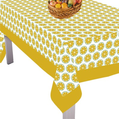 Airwill Printed 4 Seater Table Cover(Yellow, Cotton)