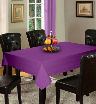 Lushomes Solid 12 Seater Table Cover(Purple, Cotton) at flipkart