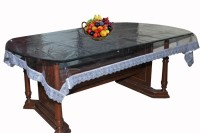 Ans Solid 8 Seater Table Cover(Silver, Plastic)