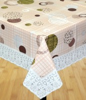 Katwa Clasic Printed 2 Seater Table Cover(Multicolor, PVC)
