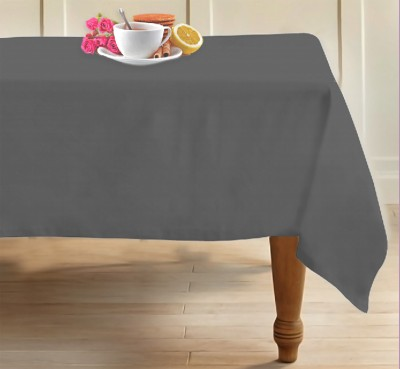 Airwill Solid 4 Seater Table Cover(Grey, Cotton)