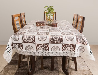 Azalea Printed 6 Seater Table Cover(Brown, PVC) at flipkart