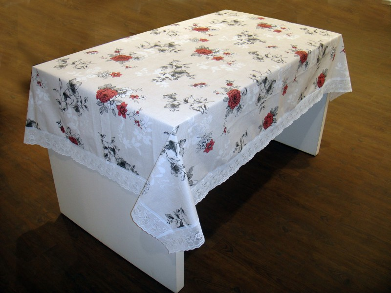 Freelance Floral 4 Seater Table Cover Flannel Table Cover 60 x 36
