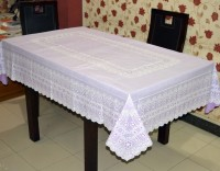 Katwa Clasic Floral 6 Seater Table Cover(Violet, PVC)