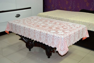 Katwa Clasic Crocheted 2 Seater Table Cover(Orange, PVC)