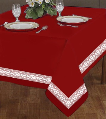 Airwill Solid 2 Seater Table Cover(Red, Cotton)