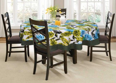 Lushomes Printed 4 Seater Table Cover(Green, Cotton)