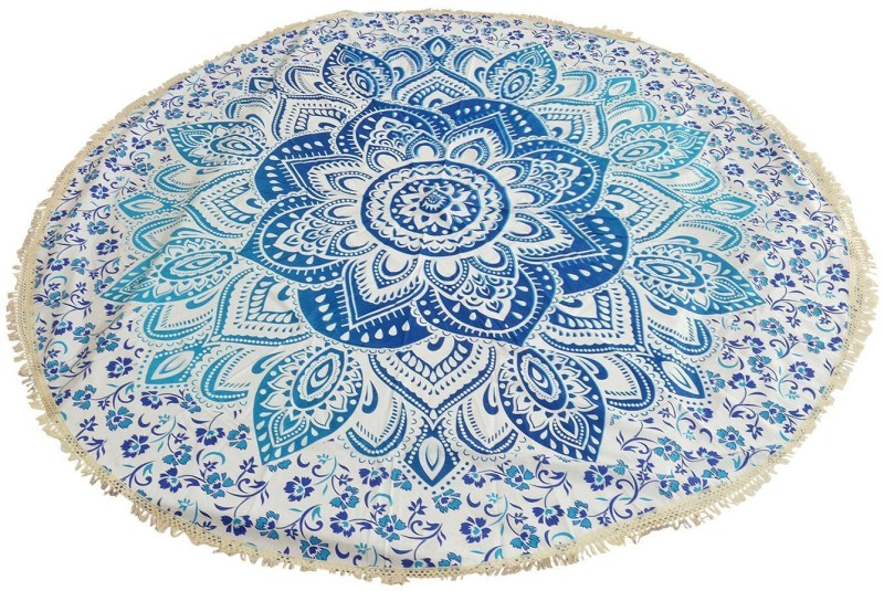Spangle Printed 6 Seater Table Cover(Multicolor, Cotton)