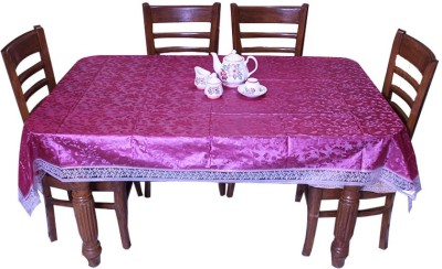 E-Retailer Geometric 8 Seater Table Cover(Red, PVC) at flipkart