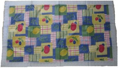 AyushFabrics Checkered 6 Seater Table Cover(Blue, Green, Yellow, PVC) at flipkart