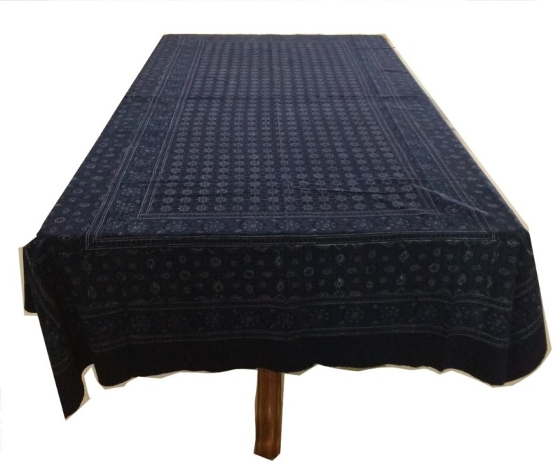 JewelKraft Designs Solid 6 Seater Table Cover(DEEP INDIGO BLUE, Cotton)