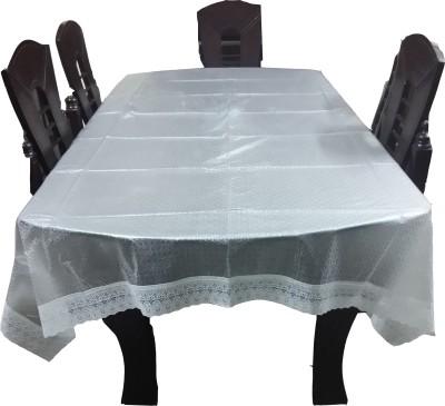 Ryka Geometric 4 Seater Table Cover(White, PVC, Plastic)