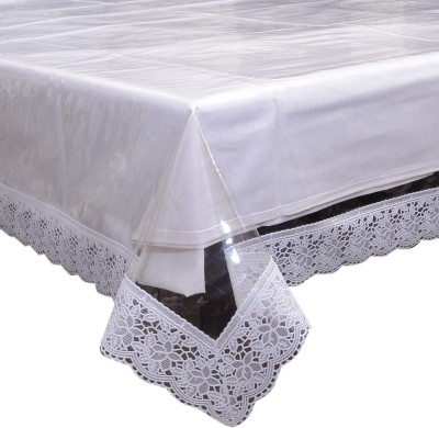 Decor Club Self Design 4 Seater Table Cover(White, PVC) at flipkart