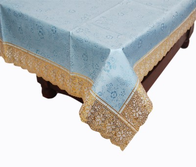 E-Retailer Printed 6 Seater Table Cover(Blue, PVC) at flipkart