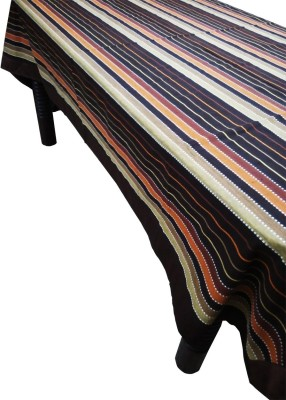 Unique Collections Striped 6 Seater Table Cover