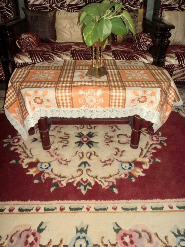 Amita Home Furnishing Floral 6 Seater Table Cover Baithak-ki-Shaan