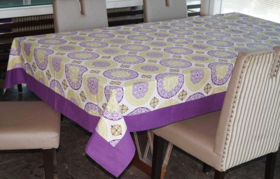 Lushomes Printed 12 Seater Table Cover(Multicolor, Cotton)