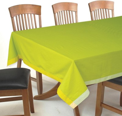 Elan Solid 8 Seater Table Cover(Green, Cotton)