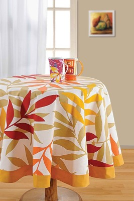Swayam Printed 4 Seater Table Cover(Multicolor, Cotton)