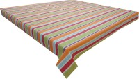Adt Saral Striped 4 Seater Table Cover(Multicolor, Cotton)