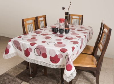 Azalea Printed 8 Seater Table Cover(Red, PVC) at flipkart