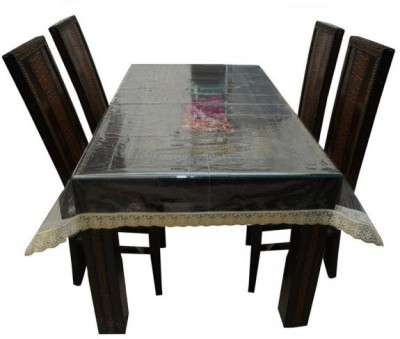 Delfi Solid 4 Seater Table Cover(Transparent, PVC) at flipkart