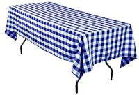 Airwill Checkered 6 Seater Table Cover(Blue, White, Cotton)