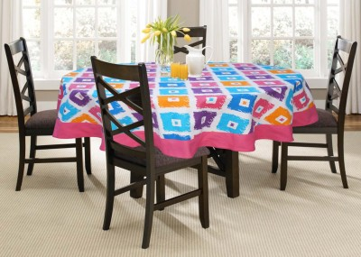Lushomes Printed 4 Seater Table Cover(Multicolor, Cotton)