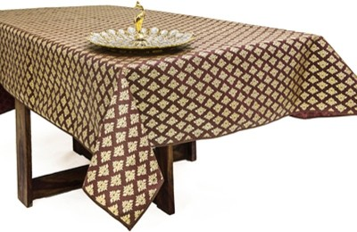Cannigo Printed 8 Seater Table Cover(Brown, PVC) at flipkart