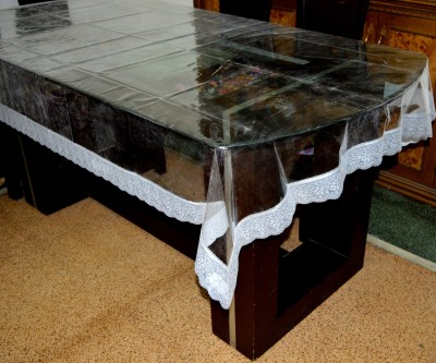 Spider Solid 6 Seater Table Cover(Multicolor, PVC)