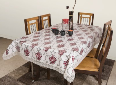 Azalea Printed 6 Seater Table Cover(Red, PVC) at flipkart