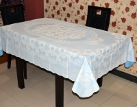 Katwa Clasic Floral 6 Seater Table Cover(Blue, PVC)