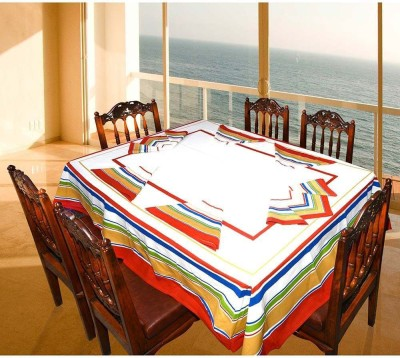 Great Art Striped 6 Seater Table Cover