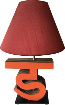 Sylvn studio Diligent DA letter lamp Maroon Table Lamp