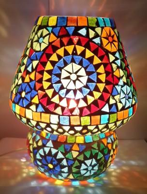 Priyal Artz Multicolor Triangle19 Table Lamp