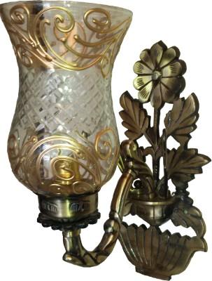 LightingWorld Golden Cut On Flower base Night Lamp