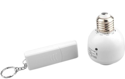Smiledrive Wireless Remote Control Light Bulb Holder - Standard E27 Screw Cap Socket Night Lamp