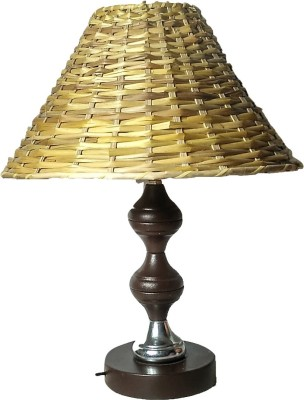 Kuch khas Cane Lamp Shade with Steel Base Table Lamp