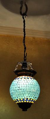 Lal Haveli Decorative Mosaic Art Polka Dots Glass Night Lamp