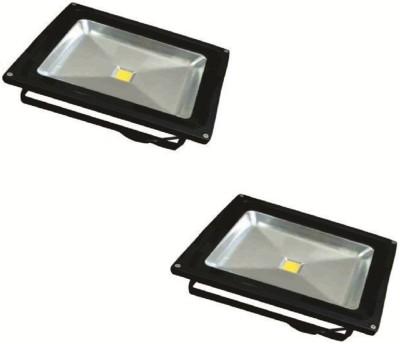 EPSORI 50 Watt Square Water Proof White Anox Led Flood Light set of 2 Night Lamp