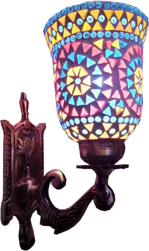 Weldecor Antiqua Brasso Rainbow Stars Night Lamp(30 cm, Multocolor)